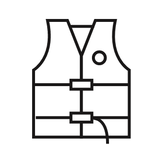 Icon of a personal flotation device (PFD) or lifejacket
